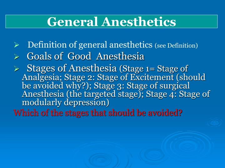 Definition of general anesthesia
