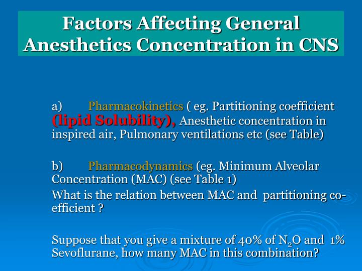 Factors Affecting General