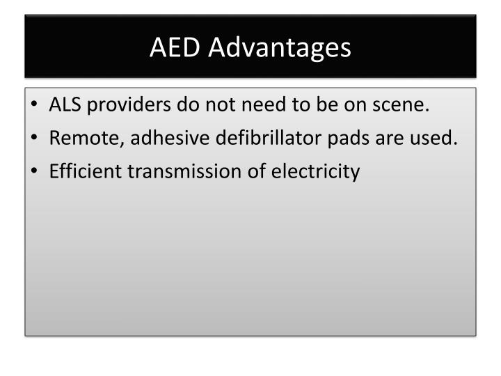 AED Advantages