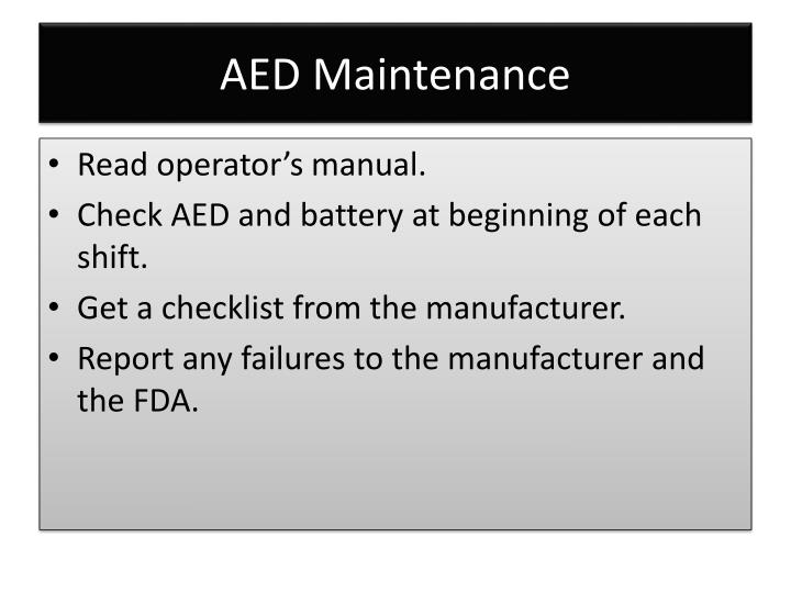 AED Maintenance