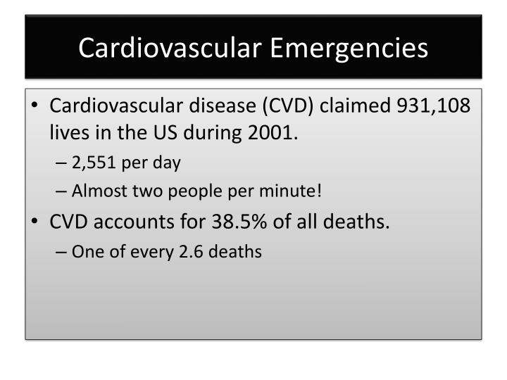 Cardiovascular emergencies1