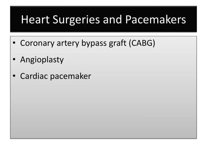 Heart Surgeries and Pacemakers