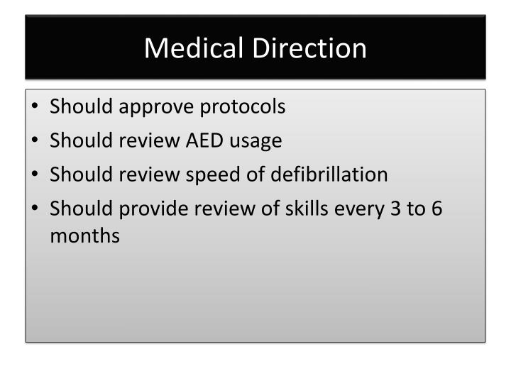Medical Direction