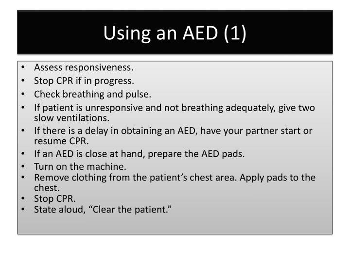 Using an AED (1)