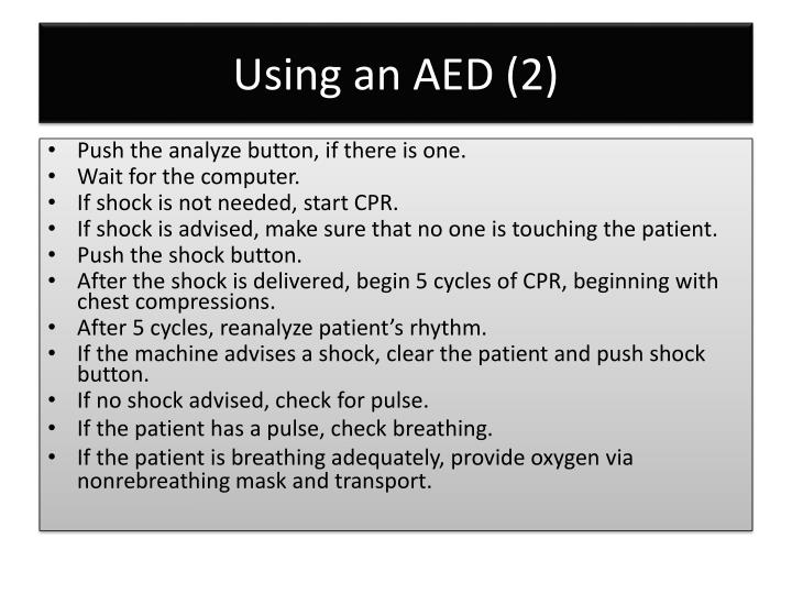 Using an AED (2)