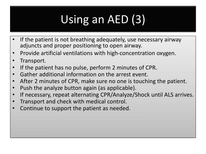 Using an AED (3)