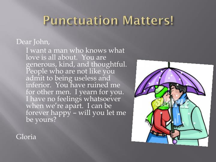 dear john letter punctuation - photo #32