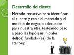 desarrollo del cliente