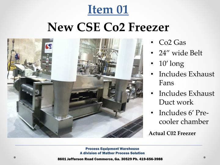 Item 01 new cse co2 freezer