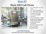 item 02 stein jso lab oven