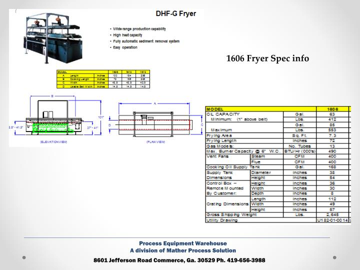 1606 Fryer Spec info