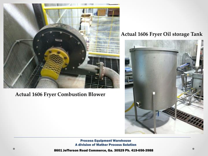 Actual 1606 Fryer Oil storage Tank
