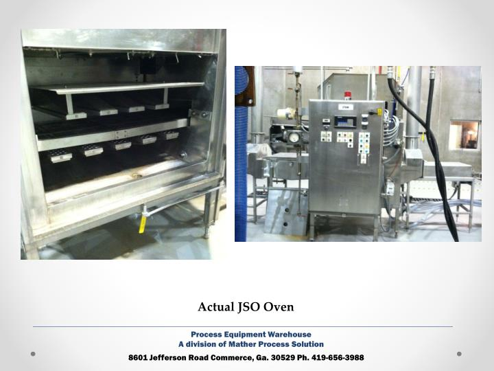 Actual JSO Oven