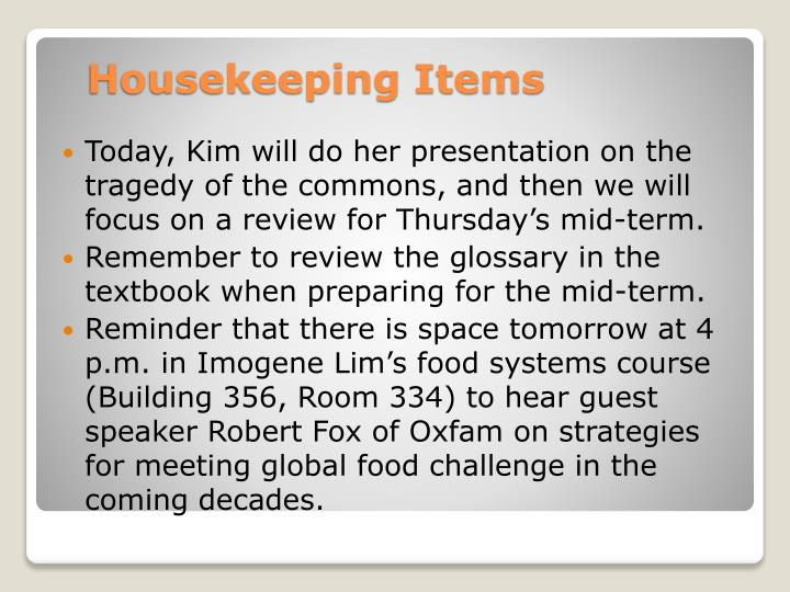 Today, Kim will do her presentation