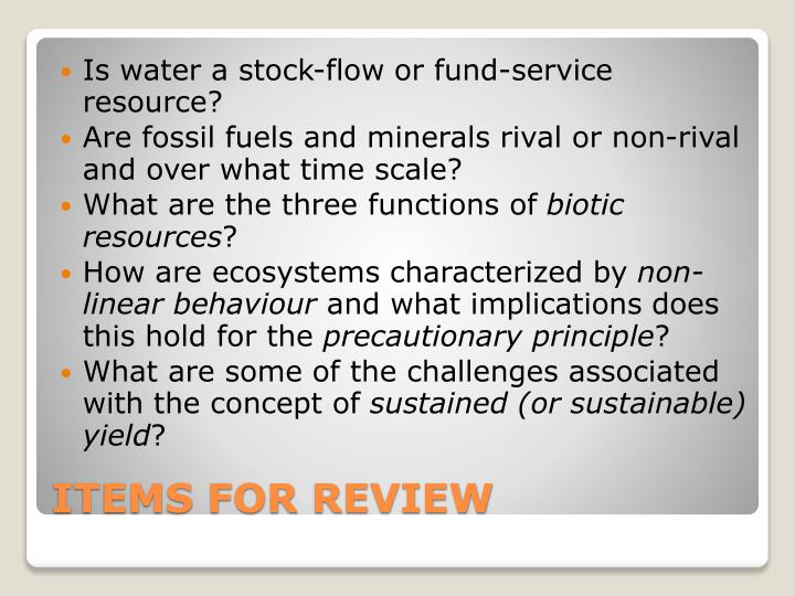 Is water a stock-flow or fund-service resource?