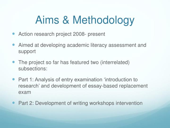 Aims & Methodology