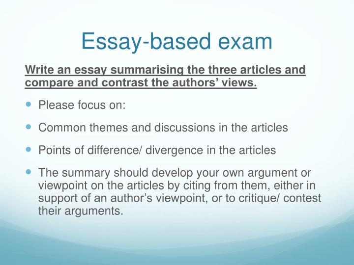 Essay-based exam