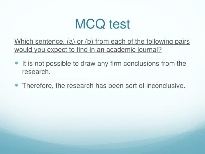 MCQ test