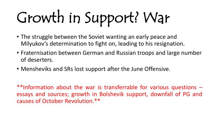 Growth in Support? War
