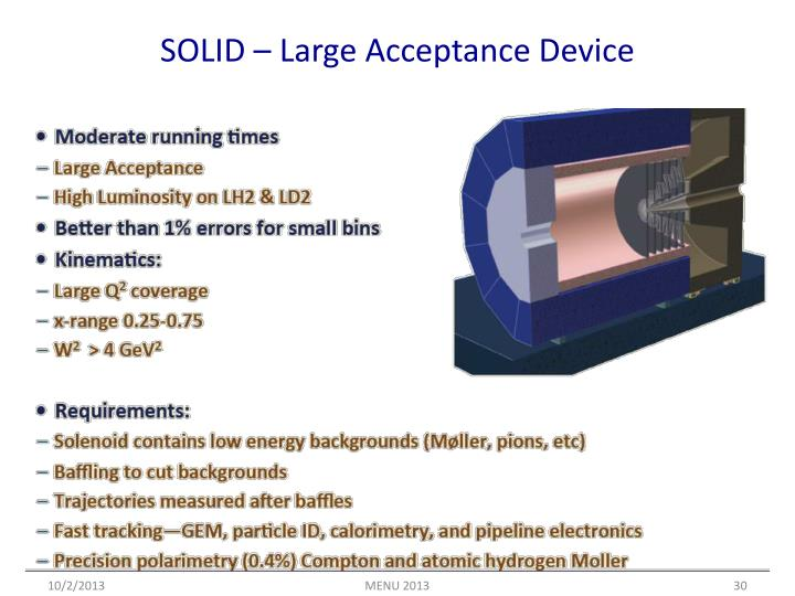 SOLID – Large Acceptance Device