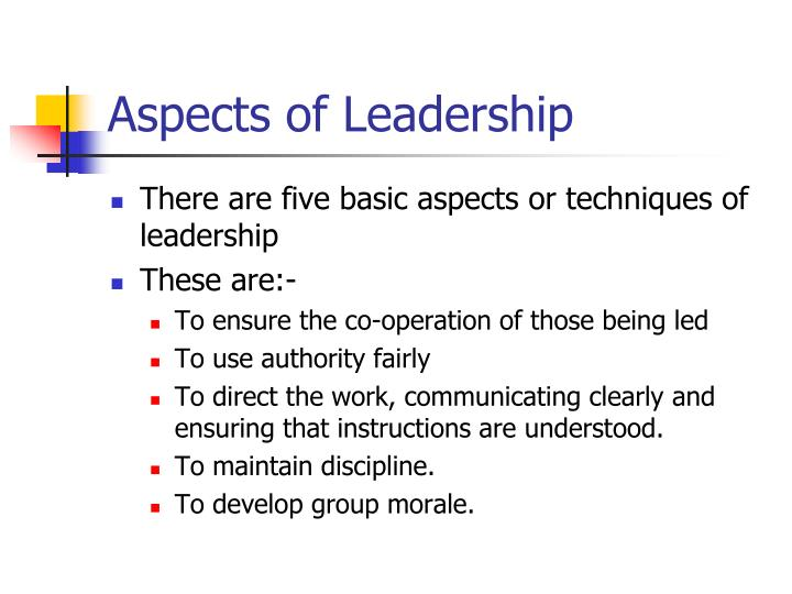 Aspects of Leadership
