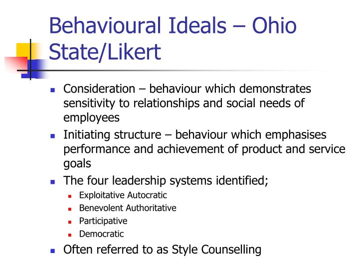 Behavioural Ideals – Ohio State/