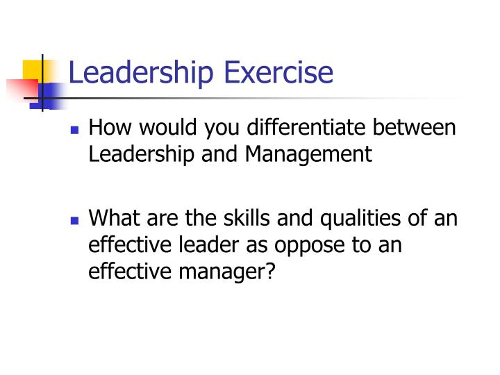 Leadership Exercise