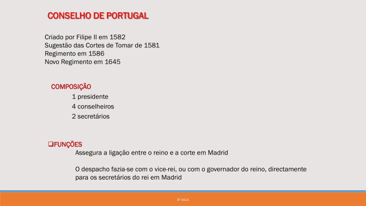 CONSELHO DE PORTUGAL