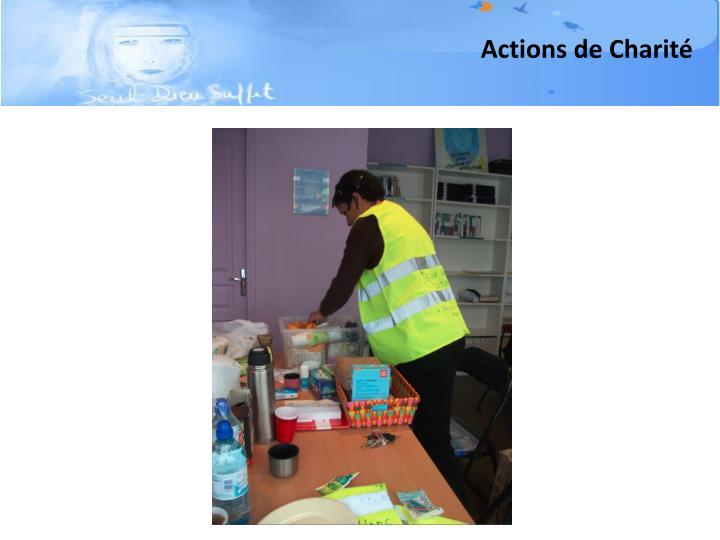 Actions de Charité