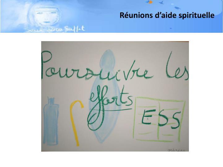 Réunions d'aide spirituelle