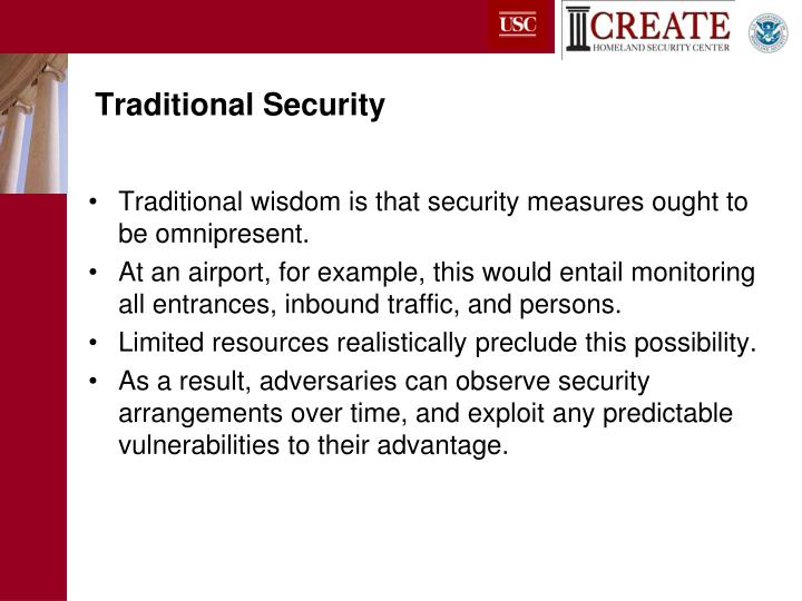 Traditional Security