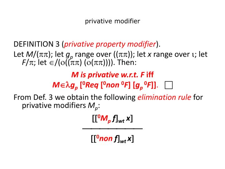 privative modifier