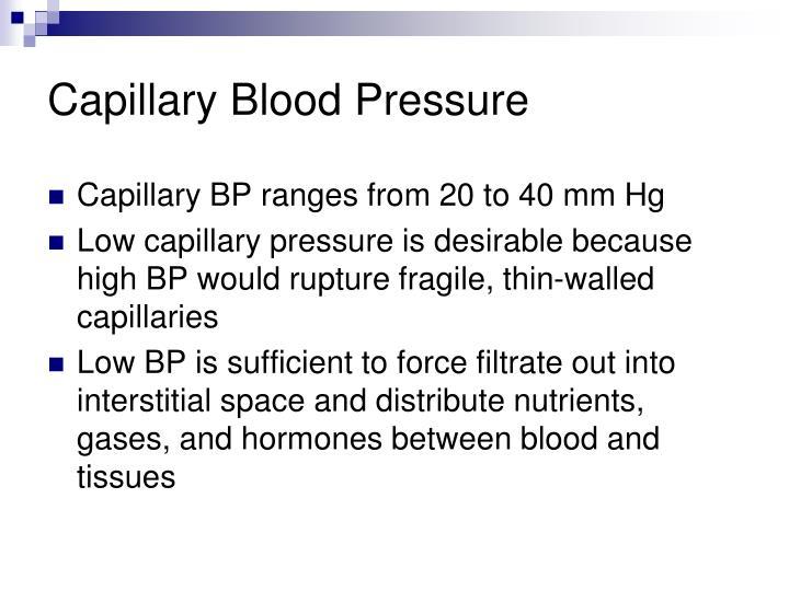 Capillary Blood Pressure