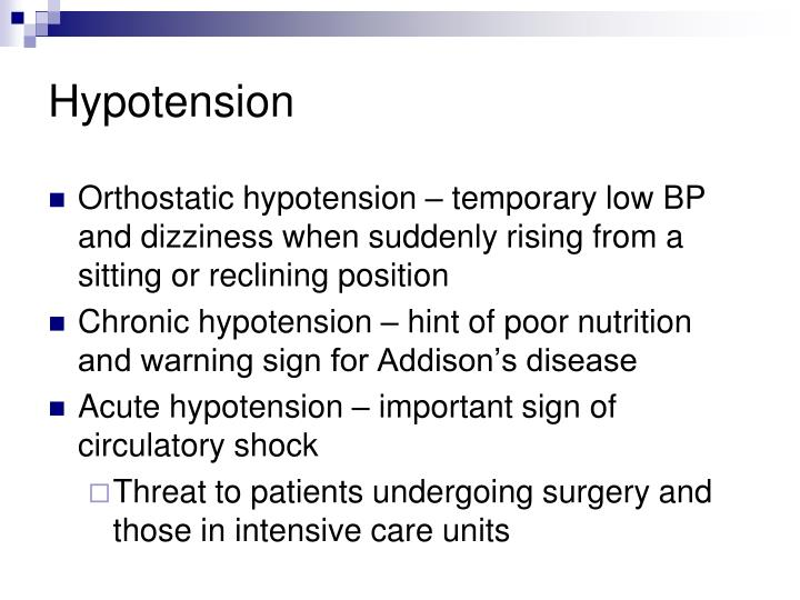 Hypotension
