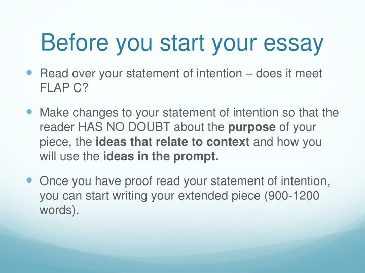 Before you start your essay