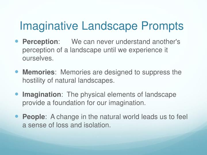 Imaginative Landscape Prompts