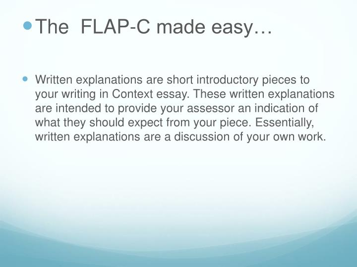 The  FLAP-C made easy…