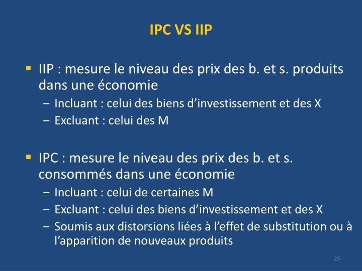 IPC VS IIP