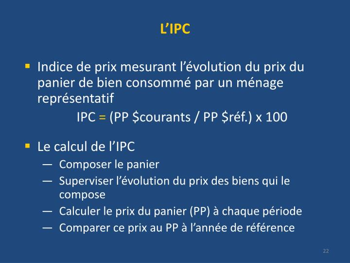 L'IPC