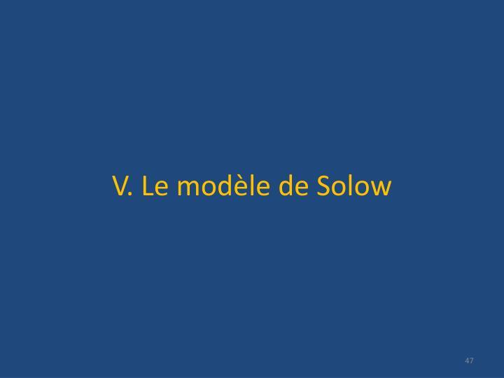 V. Le modèle de Solow