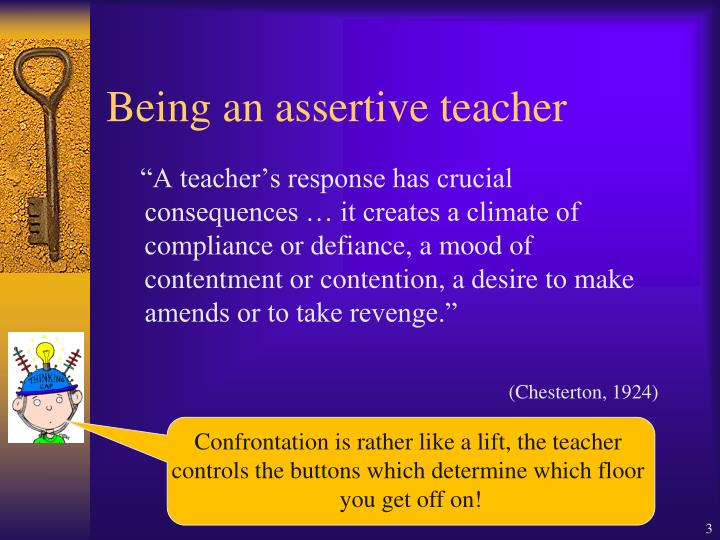 Being an assertive teacher