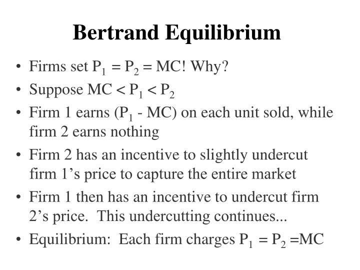 Bertrand Equilibrium
