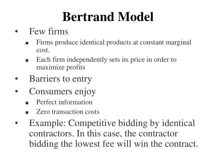 Bertrand Model