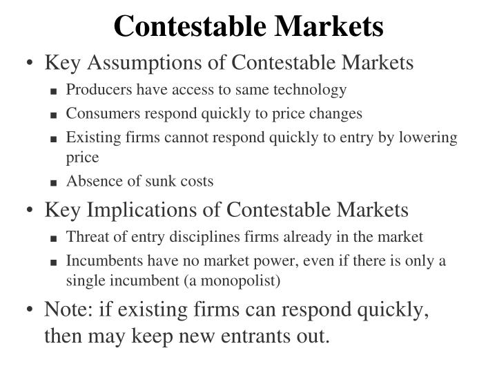 Contestable Markets