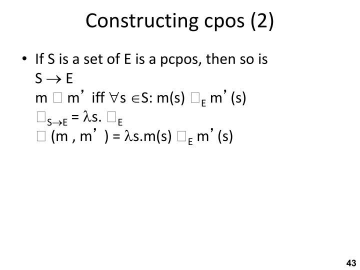 Constructing cpos (2)