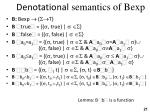 denotational semantics of bexp