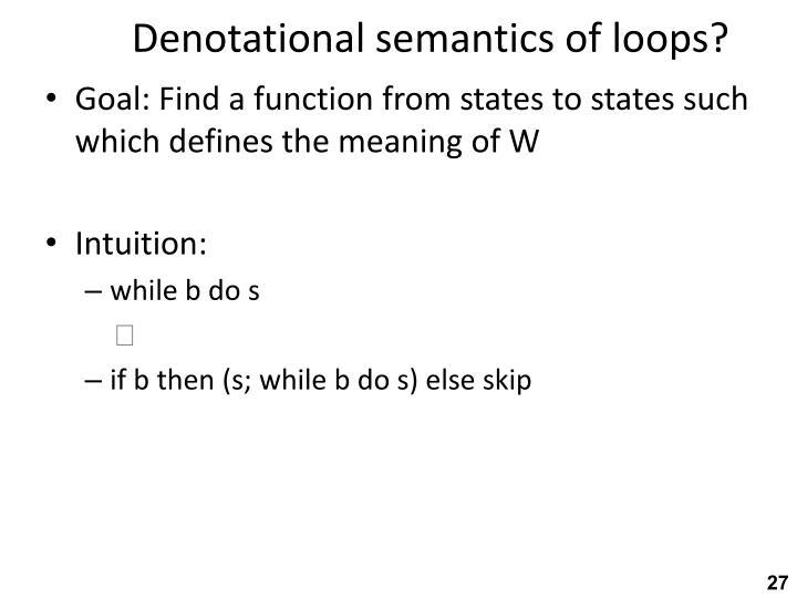 Denotational semantics of