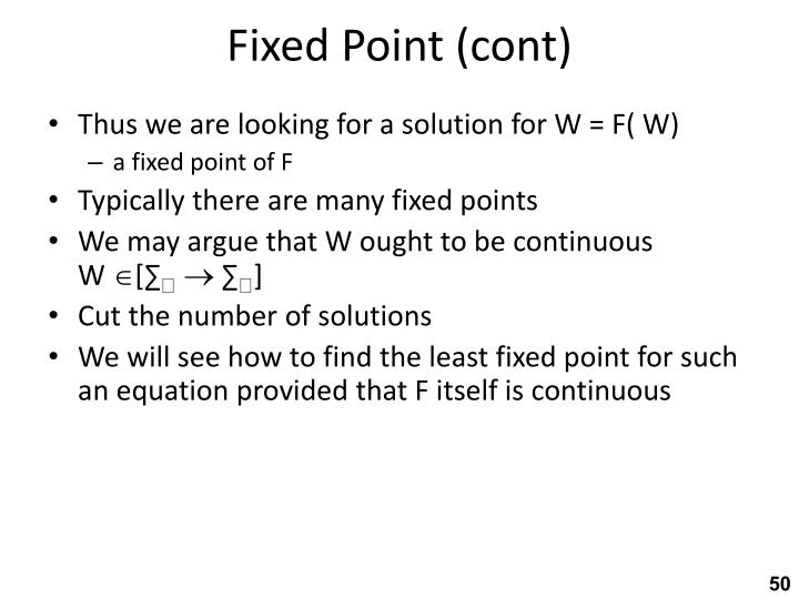 Fixed Point (