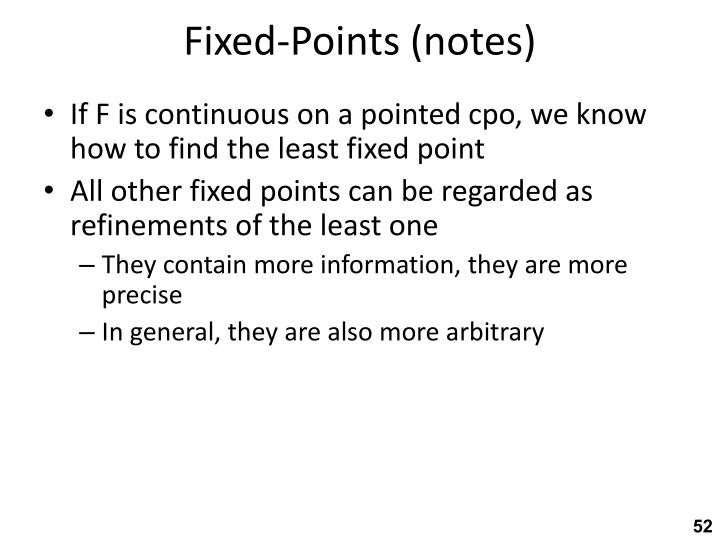 Fixed-Points (notes)
