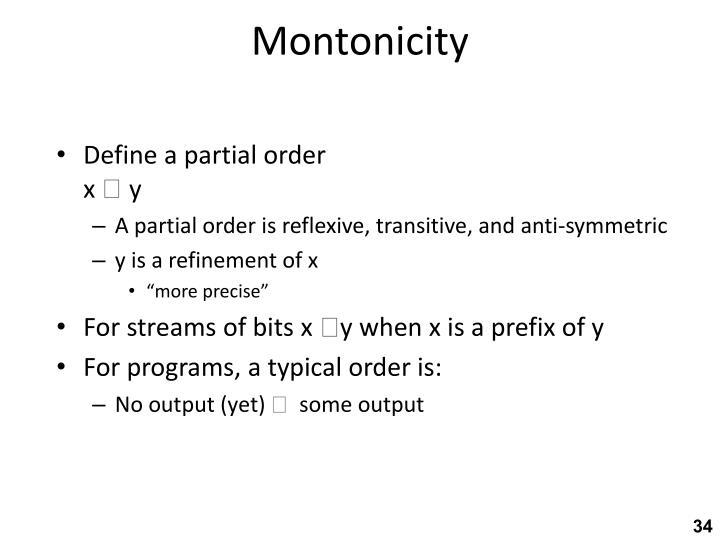Montonicity